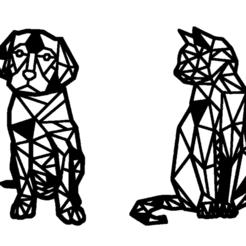 chien et chat.png Télécharger fichier STL chien,et,chat • Plan pour impression 3D, jenemorel
