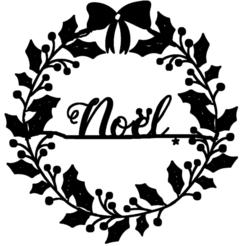 couronne de noel.png Télécharger fichier STL couronne,de,noel • Plan pour impression 3D, jenemorel