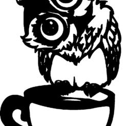 chouette avec tasse cafee.png Télécharger fichier STL chouette,avec,tasse,a,cacafee • Plan pour imprimante 3D, jenemorel