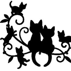 chats noire.png Télécharger fichier STL chats,noire • Objet pour impression 3D, jenemorel