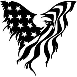 aigle drapeau.png Download STL file eagle, flag, • 3D print model, jenemorel