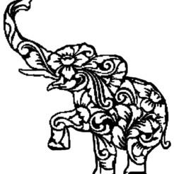 elephan fleur.jpg Télécharger fichier STL elephan,fleur • Design à imprimer en 3D, jenemorel