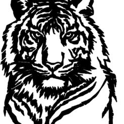 tete de tigre.png Télécharger fichier STL tete ,de,tigre • Objet imprimable en 3D, jenemorel