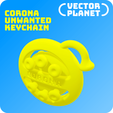 Download free 3D printing models CORONA UNWANTED Keychain, vectorplanet