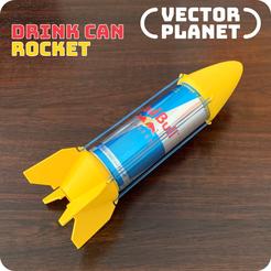 Descargar modelo 3D gratis La lata de bebida es un cohete, vectorplanet
