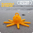 Download free 3D printing templates Flexible Octopus, vectorplanet