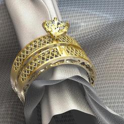 STL RING 3D JEWELLERY MODEL 3D, Medesign