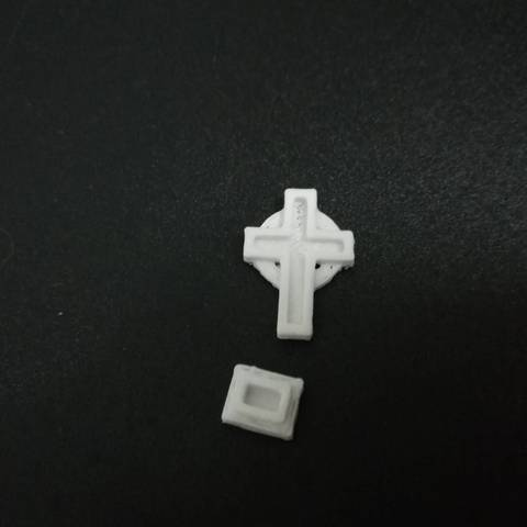 1537187157688.jpg Download free STL file H0/HO Scale Cemetery Cross • Template to 3D print, itisNutella