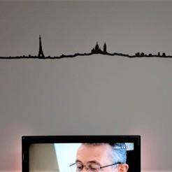 Paris-Ligne-Photo.jpeg Download STL file Silhouette City Paris Mural Decoration • 3D print object, SNG06