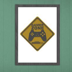 Image présentation.png Télécharger fichier STL PANNEAU GAMER ZONE POUR PORTE / Decoration • Design à imprimer en 3D, SNG06
