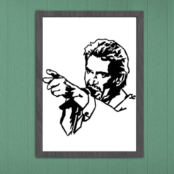 Rendu.png Télécharger fichier STL Décoration Murale Johnny Hallyday • Modèle à imprimer en 3D, SNG06
