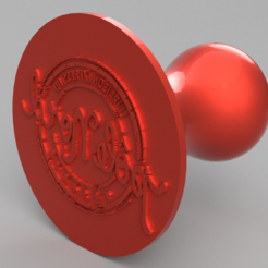 """Capture1.PNG Download STL file Christmas Stamp """"North Pole Express Delivery"""" • 3D printing template, SNG06"""