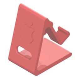 Capture.PNG Télécharger fichier STL SUPPORT DE TÉLÉPHONE LOGO APPLE • Plan à imprimer en 3D, SNG06