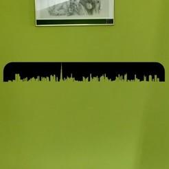 Dubai photo mur.jpg Télécharger fichier STL SILHOUETTE VILLE DUBAI DÉCORATION MURALE • Objet pour impression 3D, SNG06