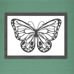 Image présentation horizontale.png Download STL file BUTTERFLY SILHOUETTE WALL DECORATION • 3D printable model, SNG06