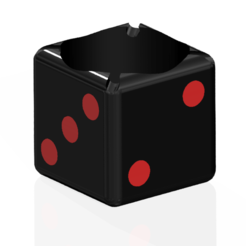 Capture1.PNG Download STL file Ashtray in Customizable Dice Shape • 3D printer template, SNG06