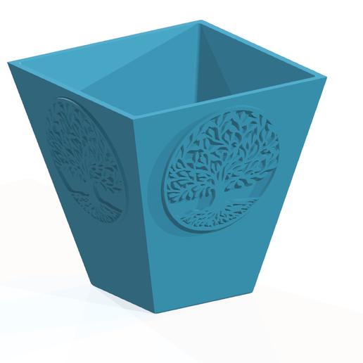 Flowerpot2.PNG Télécharger fichier STL POT DE FLEUR AVEC ARBRE DE VIE • Modèle imprimable en 3D, SNG06