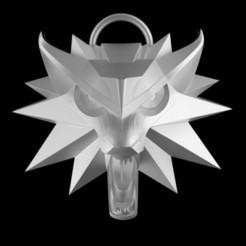 Download 3D printing templates The Witcher 3  - Wolf Medallion, LigonAP