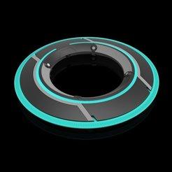 Tron Legacy Disk 01 - KS6.jpg Télécharger fichier STL Disque d'identité - Tron Legacy • Plan pour impression 3D, LigonAP
