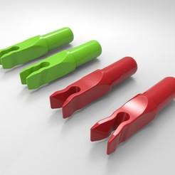 Nocken_04.jpg Download STL file 4 Arrow Nock Types • Object to 3D print, LigonAP
