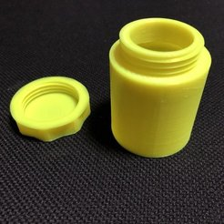 "Download free 3D printer model Screwtop ""Snuff /herb box"", Starman"