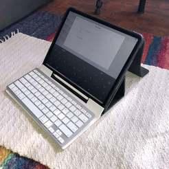 """IMG_1272.JPG Télécharger fichier STL gratuit Support pour ordinateur portable iPad Pro 12,9"""" (et plus petit) • Design imprimable en 3D, Starman"""