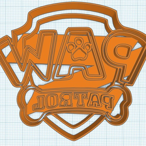 3D printer files Paw Patrol Logo cortante de galletita cookie cutter, diegox484
