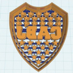 Escudo Boca.jpg Download STL file CABJ COOKIES CUTTER OR MACE MOUTH SHIELD JUNIOR CABJ • Model to 3D print, diegox484