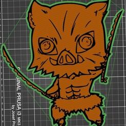 Nuevo proyecto.jpg Download STL file Inosuke Hashibira - Kimetsu No Yaiba • Object to 3D print, diegox484