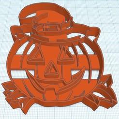 Download 3D printer model Cookies cutter or Pumpkin Mace halloween, diegox484