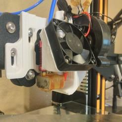 Free stl files ULTIMATE creality cr10 ender 2-3 single blower LEFT RIGHT fan mount (stock hotend) EZABL, jimroe