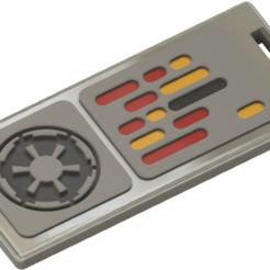imp-tag v2.png Download STL file imperial dog tag star wars squadron • 3D print design, HaarGoran