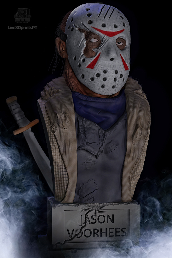 jason.jpg Download STL file Jason Voorhees: Bust for 3D printing • 3D printable model, AntonioPugliese