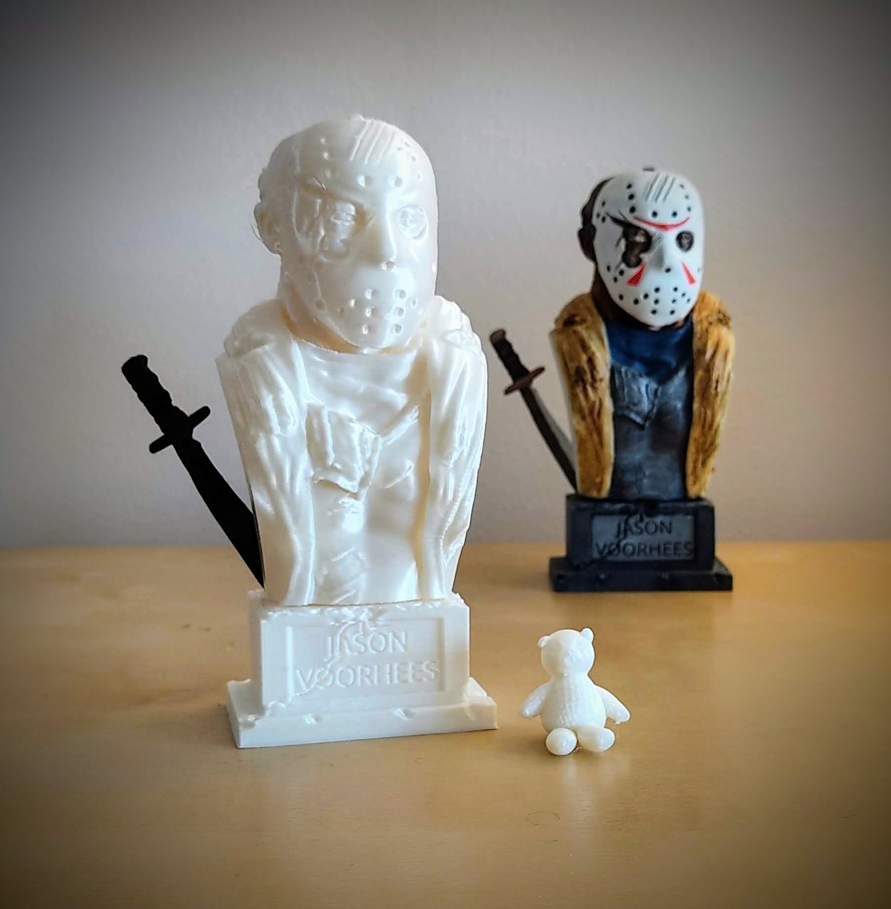 IMG_20201115_114839.jpg Download STL file Jason Voorhees: Bust for 3D printing • 3D printable model, AntonioPugliese