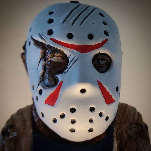 live3dprintspt_124012653_361350784935915_1205380170495373843_n.jpg Download STL file Jason Voorhees: Bust for 3D printing • 3D printable model, AntonioPugliese