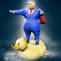 Trump_frente_novo.jpg Télécharger fichier STL Lame-Duck : Donald Trump pour l'impression 3D • Modèle pour impression 3D, AntonioPugliese
