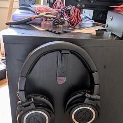 Télécharger fichier 3D Prise pour casque d'écoute - compatible avec la bande de commande, 3D_Printery_