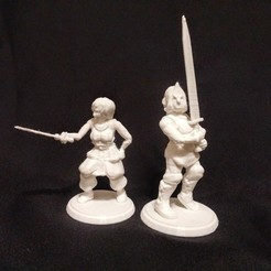 Free 3D printer model Lady Knights, stockto