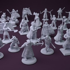 Free 3D print files Fantasy Mini Collection (multiple poses), stockto