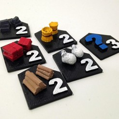 Free 3d printer designs Catan Ports, stockto