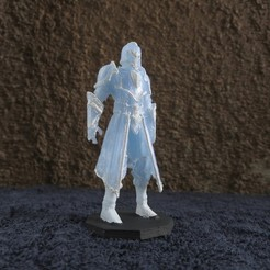 Free 3D printer designs Armored Warrior (multiple poses), stockto
