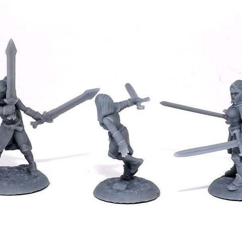 32e2a8110147d83ee82143cb0a4a89af_display_large.jpg Download free STL file Lady Knights (multiple poses) • Design to 3D print, stockto