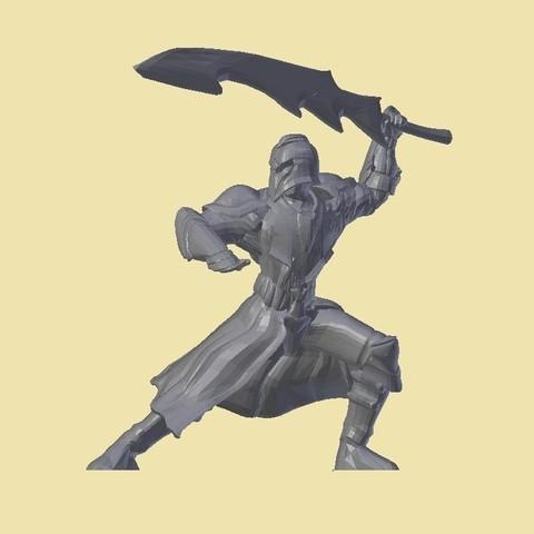 armoryellowbackground_display_large.jpg Download free STL file Armored Warrior (no base) • 3D print design, stockto