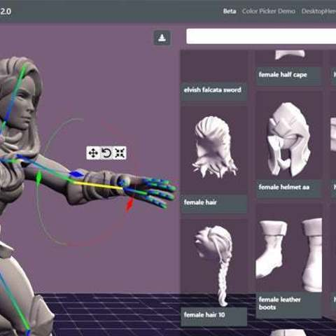 25a66f47b34d7f4fda4aa9d00dd1e65e_display_large.jpg Download free STL file Lady Knights (multiple poses) • Design to 3D print, stockto