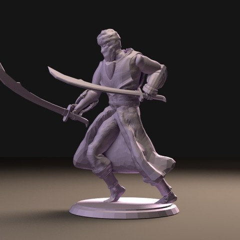 Download free 3D printer templates Arabian Warrior (multiple poses), stockto