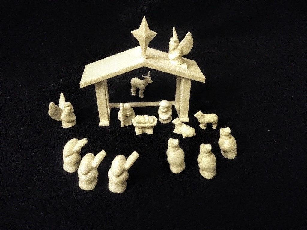 589c0d5658a121c3820830503c03f5a8_display_large.jpg Download free STL file No-Supports Nativity Set • Template to 3D print, stockto