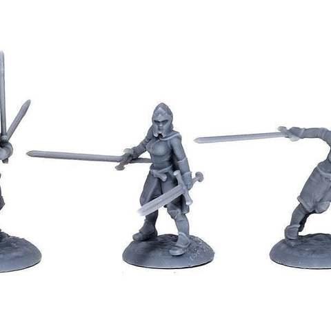 7513bc9f0320d0aec71b1448f3f6fa10_display_large.jpg Download free STL file Lady Knights (multiple poses) • Design to 3D print, stockto