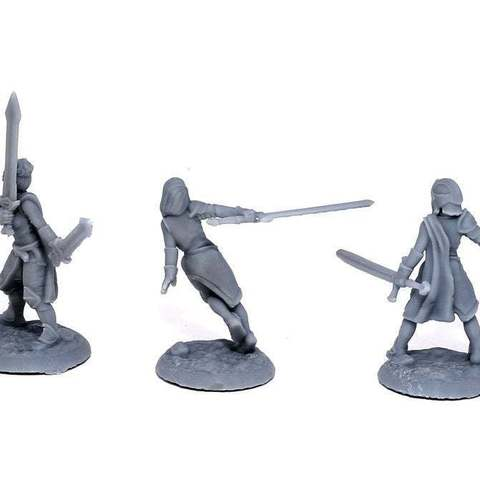 3f57513ab0aa6053461997b31f164086_display_large.jpg Download free STL file Lady Knights (multiple poses) • Design to 3D print, stockto