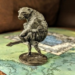 Download free 3D printing files Man Carrying Bear Mini, stockto