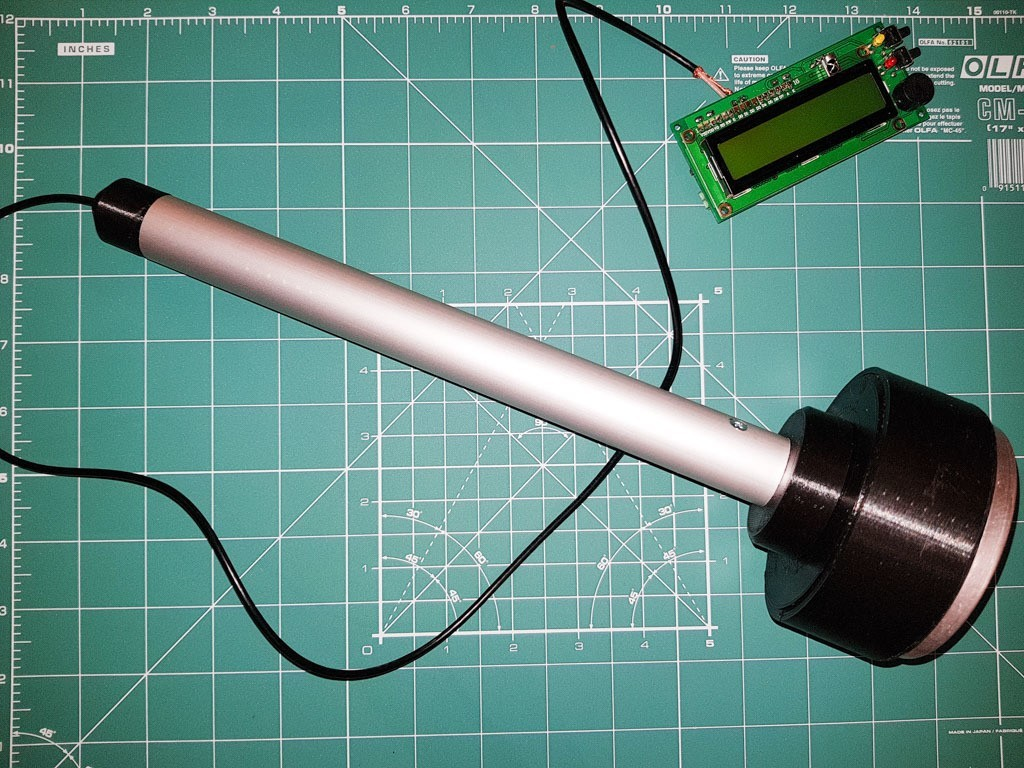 e900161fd1d44c18b1ec9d9c7edeae55_display_large.jpg Download free STL file Probe stick for Si-8b (Си-8б) Geiger Müller tube • 3D print template, glassy